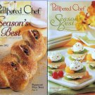Pampered Chef Season's Best Lot of 2 Recipe Booklets Fall Winter 2002 Spring Summer 2003