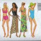 Sewing Pattern Misses Swimsuit Cover-Up Butterick 5551 Size 18 20 22 Uncut