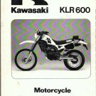 1984 Kawasaki KLR 600 Service Manual Motorcycle Repair