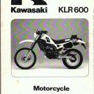 1984 Kawasaki KLR 600 Service Manual Motorcycle Repair
