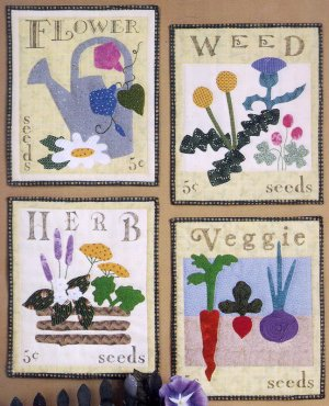 Seed Packets Quilted Wallhanging Quilting Pattern Wild Goose Chase 101 Garden Quilt