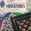 Easy Paper-Pieced Miniatures Carol Doak Quilts Quilting Pattern Book Softcover