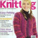 Creative Knitting Magazine September 2005 42 Easy Projects Felting Sweaters Fuzzy Wreath