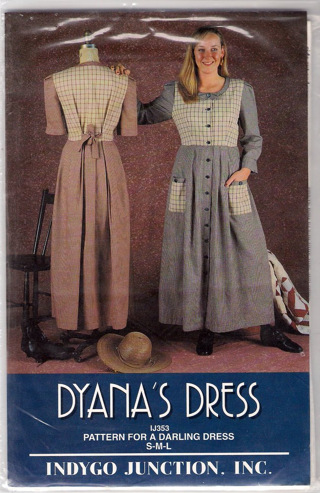 Indygo Junction Sewing Pattern IJ353 Dyana's Dress OOP Uncut Tie-back Long Skirt S M L XL