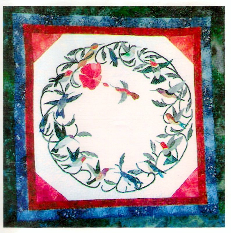 Hummingbird Wallhanging Quilting Pattern Mostly Hummers Ozark Heritage Quilts