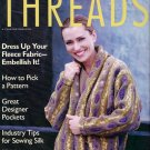 Threads Magazine No 74 Embellish Fleece Designer Pockets Sewing Silk Felting Ribbonwork