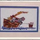 Noah's Ark Cross Stitch Chart Pattern Leaflet Waterskiing Noah Mosey 'n Me