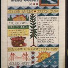 West Coast Sampler Cross Stitch Pattern Chart Leaflet June Grigg Designs No. 25