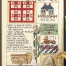 Midwest Sampler Cross Stitch Pattern Chart Leaflet June Grigg Designs No. 20