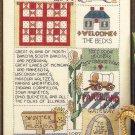 Midwest Sampler Cross Stitch Pattern Chart Leaflet June Grigg Designs No. 20