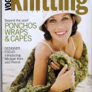Vogue Knitting Fall 2004 Michael Kors Pierrot Ponchos Wraps Capes Crocheted Embellishment