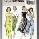 Butterick 5032 Sewing Pattern Retro 1952 Dress Wiggle Full Overskirt Option Uncut Size 6 8 10 12