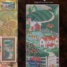 Farmyard Cross Stitch Pattern Chart Leaflet Tractor Barn Cows Chickens Color Chart
