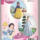 Simplicity 2817 Child's Snow White Cinderella Costume Disney Princess Size 3 4 5 6 Uncut
