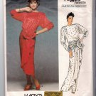 Vintage 1985 Kasper Vogue American Designer Sewing Pattern 1510 Size 12 Blouson Dress Uncut