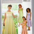 Butterick B4122 Sewing Pattern Girls' Long Dress Dress Shoulder Sleeve Options 12 14 16