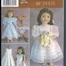 "Simplicity 5428 Sewing Pattern Fancy Frocks Susan Payne Fits 18"" Dolls Like American Girl Uncut"