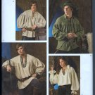 Simplicity 3519 Sewing Pattern Unisex Historical Smock Shirt Ren Faire Flintknappers Uncut
