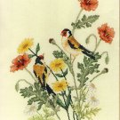 European Goldfinch Crossed Wing Collection Cross Stitch Pattern Chart