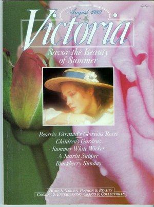 Victoria Magazine Back Issue August 1989 Beatrix Farrand Dumbarton Oaks Jessica McClintock