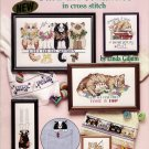 Cat Cross Stitch Chart Pattern Booklet 16 Whimsical Designs Linda Gillum