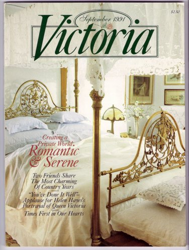 September 1991 Victoria Magazine Back Issue Helen Hayes as Queen Victoria Cranbrook House Gardens