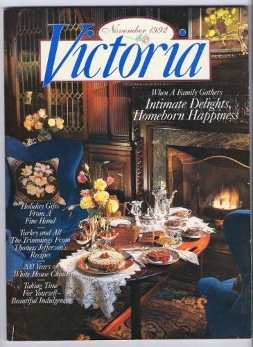 Victoria Magazine November 1992 Back Issue White House China Thomas Jefferson Recipes