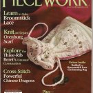 Piecework Magazine 2009 Broomstick Lace Orenburg Scarf Cross Stitch Chinese Dragons