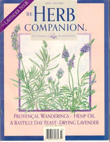 The Herb Companion Magazine Lavender Hemp Oil Bastille Day Feast June July 2000