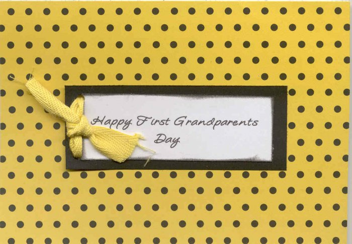 Happy First Grandparents Day for a Grandma