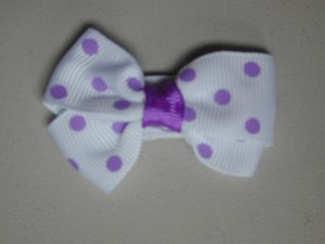 "2"" baby bow - white & lavender"