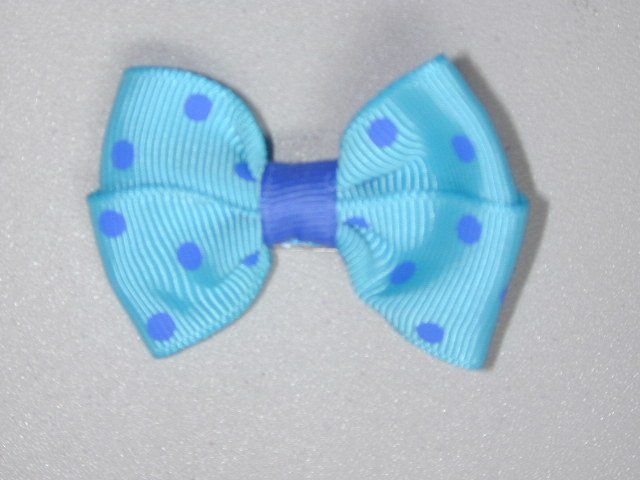 """2"""" baby bow - blue & blue"""