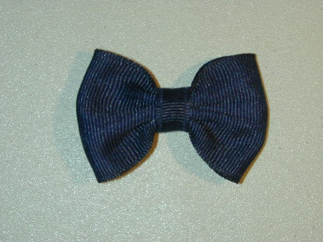 """2"""" baby bow - navy blue"""