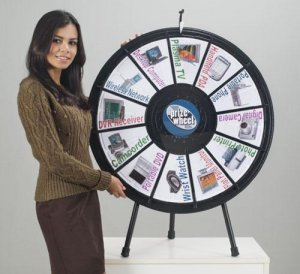 12-Slot Tabletop Prize Wheel