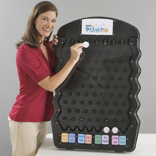 Black Mini Plinko Game with Three Pucks
