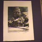 Original 1st Print 1953 French Artist-G Jacques/Barbizon area-Paris/12x16in