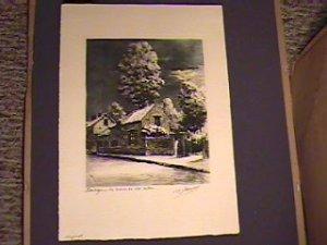 Original 1st Print 1953 French Artist-G Jacques/Barbizon area-Paris/12x16in