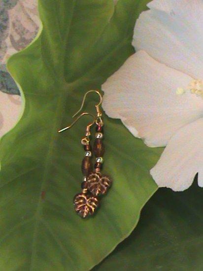 Luster Leaf brown & gold