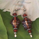 Red Lampwork Fish Bead