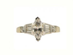 14K Gold Cubic Zirconia Wedding Ring