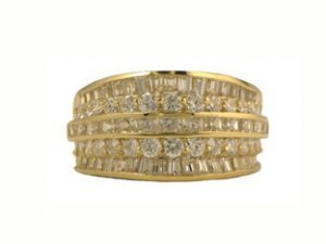 14K Yellow Gold CZ Wedding Rings