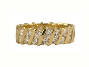 10K Gold CZ Eternity Ring