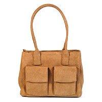 Leather handbag, 'The Di Bag' 139260