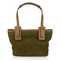 Leather handbag, 'Muskwood' 170007