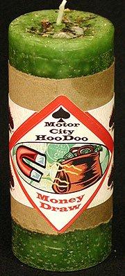 Money Draw Hoo Doo Candle