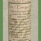 Energy - Will (Fire) Blessed Herbal Candle