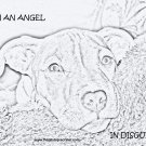 "Pitbull T-Shirt  ""im an angel drawing"""