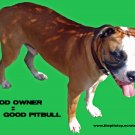 "Pitbull T-Shirt ""good owner"""