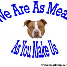 "pitbull t-shirt   ""We Are As Mean"""