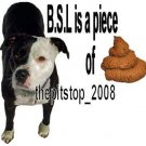 "Brand New Pitbull T-Shirt  ""B.S.L is a piece"""